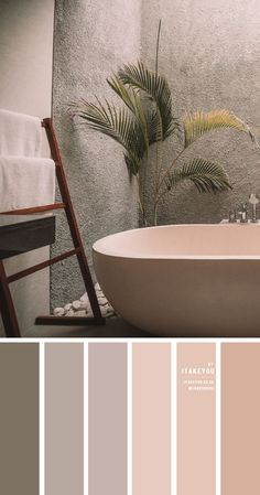 Earth Tone Color Scheme For Minimalist bathroom Dark green color palette with muted gold - Home color decor Earth Tone Bedroom, Earth Tone Decor, Earth Tone Colors, Earth Tones, Peach Color Palettes, Earthy Color Palette, Neutral Colour Palette, Minimalist Bathroom, Modern Minimalist