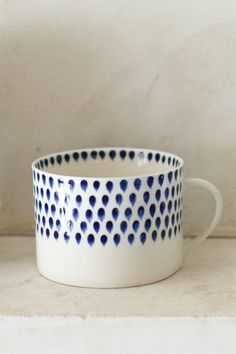 Treat your self to a stylish indigo drop mug to match your new office!