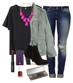 """""""OOTD"""" by prep-lover1 ❤ liked on Polyvore featuring R13, Kendra Scott, Mavi, G1, Nly Shoes, Tory Burch, NARS Cosmetics, Essie and Urban Decay"""