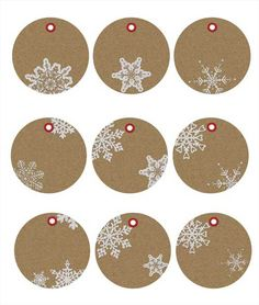 Free Printable Christmas Gift Tags in Kraft Paper