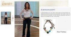 Maxi Colar Fantasy no programa Encontro com Fátima Bernardes - 26/02/2013