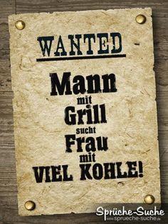 WANTET - Mann sucht Frau! - Coole Spruchbilder