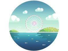 amusement park by Liushui Mao, via Behance