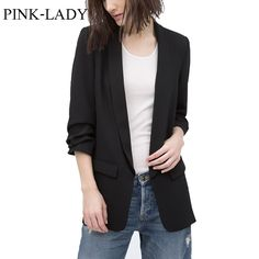 Summer Autumn Jacket Coat Women Thin None Button Plicated 3/4 Sleeve Long Chiffon Blazer Ladies Business Suits Casual Outerwear  #ootd #streetstyle #iwant #dress #beauty #swag #shopping #pretty #cool #sweet