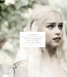 We speak of Rhaegar's sister born on Dragonstone before it's fall, the one they called Daenerys. #got #asoiaf