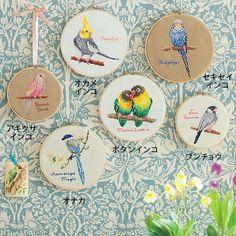 cross stitched bird gallery