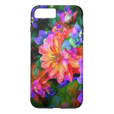 pretty colored floral pattern case - tap to personalize and get yours