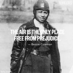 """Bessie Coleman Elizabeth """"Bessie"""" Coleman (January 1892 – April was an American civil aviator. She was the first female pilot of African American and the first person of African American descent to hold an international pilot Bessie Coleman, Female Pilot, Brave Women, Proud Of Me, Worlds Of Fun, Super Powers, Motivation Inspiration, Good People, Black History"""
