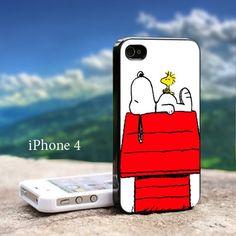 Snoopy Woodstock Sleep Iphone 4 / 4s Black Case | GoToArt - Accessories on ArtFire
