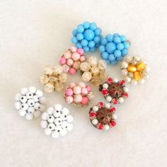 Vintage 1960s Bead Earrings Destash 5 by RebeccasVintageSalon, $5.00