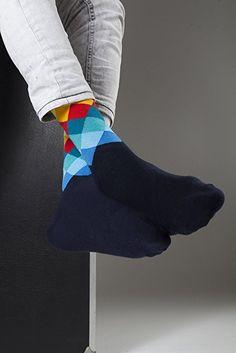 Socks n Socks-Men's 5-pair Luxury Fun Cool Cotton Colorful Mix Socks Gift Box at Amazon Men's Clothing store: