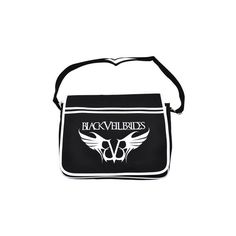 Black Veil Brides Logo Messenger bag, bvb merch, Black Veil Brides UK (€32) ❤ liked on Polyvore featuring bags, black veil brides, bvb, accessories and backpacks
