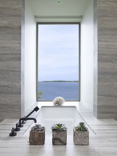 Contemporary bathroom in Sag Harbor Waterfront Bedroom Bath Contemporary Modern by Stedila Design Interior S, Decor Interior Design, Interior Decorating, Design Interiors, Contemporary Bathrooms, Contemporary Interior, Luxury Bathrooms, Bathroom Trends, Bathroom Ideas