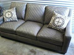 NEW Wellington Leather Sofa from WayFair - $275