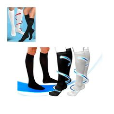 2 Pairs: Unisex Compression Socks - Assorted Colors