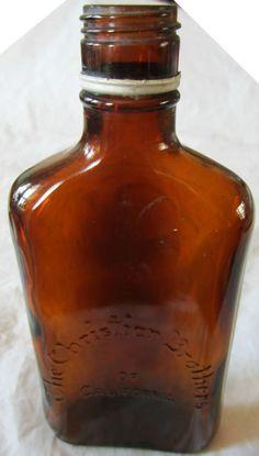 Vintage Bottles, Bottles And Jars, Archaeology, Flask, Vintage Items, California, Christian, Brown, Ebay