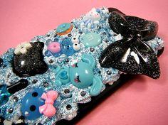 Black Frog Bunny Decoden Phone Case iPhone 6 by CaravanOfCases