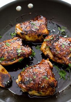 Sticky Asian Chicken Thighs
