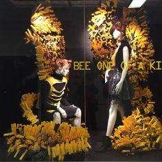 "SENECA, (Visual Merchandising College), Toronto, Canada, student project: ""Bee One Of A Kind"", photo by Tharcika Baskaran, pinned by Ton van der Veer"