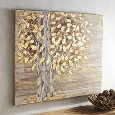 Go natural in a totally glam way with the golden trees on our hand-painted wall art. A modern mix of metallic and earth tones, this piece naturally stands out in any space.