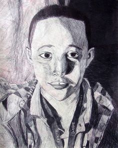 Artwork by Zakkiyya Muhammad - Pen and Color Pencil  - First Place Winner - 8th Grade Level - Dade County Youth Fair 2014 Art Exhibit  - March 13, 2014 - March 30, 2014