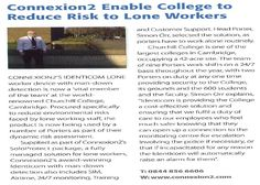 Connexion2 Enable College to Reduce Risk to Lone Workers