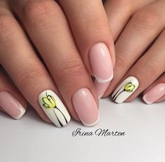 French Wedding Nails Design With Flower Accent 18 Gorgeous Wedding Nails I Easter Nail Designs, Red Nail Designs, Simple Nail Art Designs, Spring Nail Trends, Spring Nails, New Nail Art, Easy Nail Art, Manicure, Wedding Nails Design