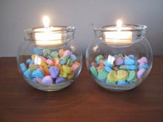 Two Crafty Mules: Holiday Tealight Candle Holders Tutorial