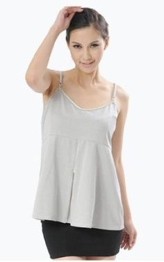 Maternity Clothes, Cotton Camisole with Silver Blend Radiation Shield, One Maternity Size, Color Grey, Ultimate Must Have For Your Pregnancy, Dresses # 890193636 OURSURE.COM. $178.98