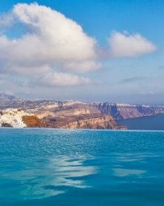 Chromata Hotel  ( Santorini, Greece )  From the infinity pool you can see the entire island - including the capital, Fira. #Jetsetter #JSVolcano