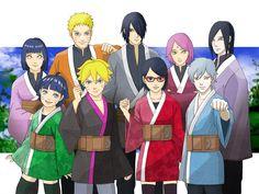 Naruto Families 〖 Naruto Hinata Boruto Himawari Uzumaki Sasuke Sakura Sarada Uchiha Orochimaru Mitsuki family 〗
