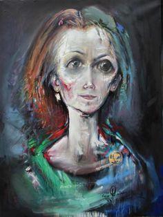 Grazyna TARKOWSKA - Naturellement - Peinture - Huile et feuilles d'or sur toile