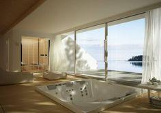 Built-in square hot tub CHEERS CH3 Hydrospa Collection by TEUCO GUZZINI | design Nilo Gioacchini