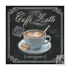 Coffee House Caffe Latte Art Print by Chad Barrett at Art.com