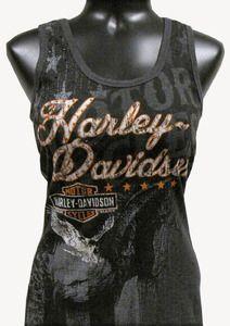 Harley-Davidson® Women's Scoop Neck Tank Top - Wild Tank - Black -$25.99