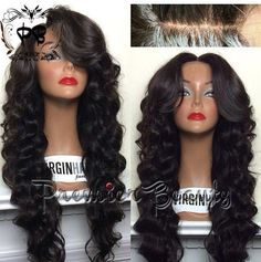 #LaceFront #Weave #SideBangs #OpenBook #InvisiblePart #Curls