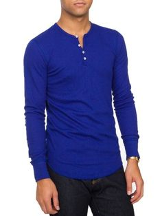 all colors - Baby Thermal Long Sleeve Henley | Henleys | Men's Long Sleeves | American Apparel