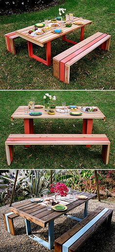 outdoor kids table - the boys have outgrown their plastic kids table - this is great!