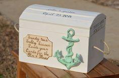 beach wedding card box nautical card box by RedHeartCreations, $135.00