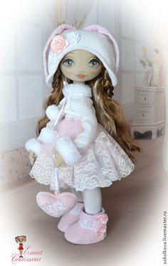 Купить Эмилия - кукла, нежно-розовый, кукла в подарок, игровая кукла, текстильная кукла