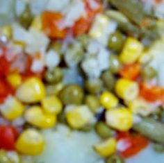 Judy H-J's Thoughts - A Twinless Twin: Creamed Potatoes With Mixed Vegetables - Creative Monday Blog Hop