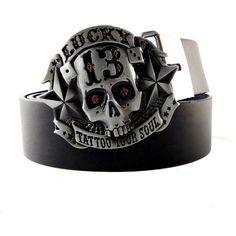 Bling Skull Crossbones Belt Buckle Pirate Booty Crystal Rock Biker Gothic Emo