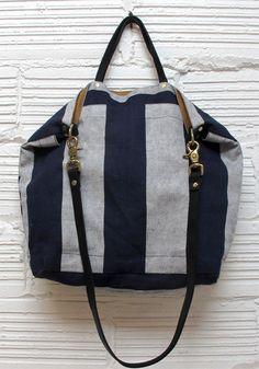 reversible bag - big stripe