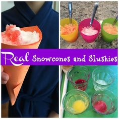A cure for cabin fever: Real snow slushies and snowcones. All you need is fresh snow, sugar, fruit, and 10 minutes.