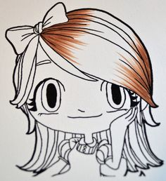 Copic coloring tutorial; Copic hair coloring picture tutorial  Love this one too!
