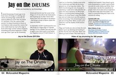 Feature in Motovaded Magazine Issue #18 World renown Yoga Musician, Fitness Drummer and Live Percussionist 'Jay on the Drums' was featured in their latest issue!!!
