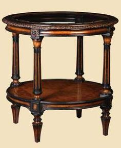 "Trianon Court Round Lamp Table Item #TRC04   Dimensions: 33""w x 33""d x 33""h"
