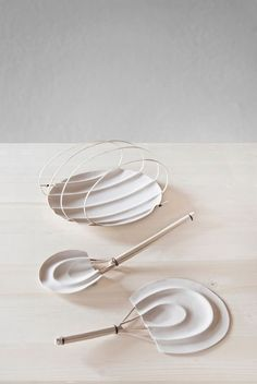 Wicker and clay collection of objects made in collaboration with Antoniazzi & Piovesana and Ceramiche Vicentine