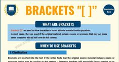 """Brackets """""""" are used to allow the writer to insert editorial material inside quotations. Improve Your English, Get Back To Work, Do You Know What, Punctuation, Everyone Knows, English Grammar, Make Sense, Quotations, Texts"""