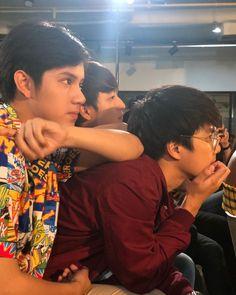 Boy Meme, Boy Celebrities, Love Film, Handsome Faces, Thai Drama, Cute Actors, Cute Gay, Best Couple, Reaction Pictures